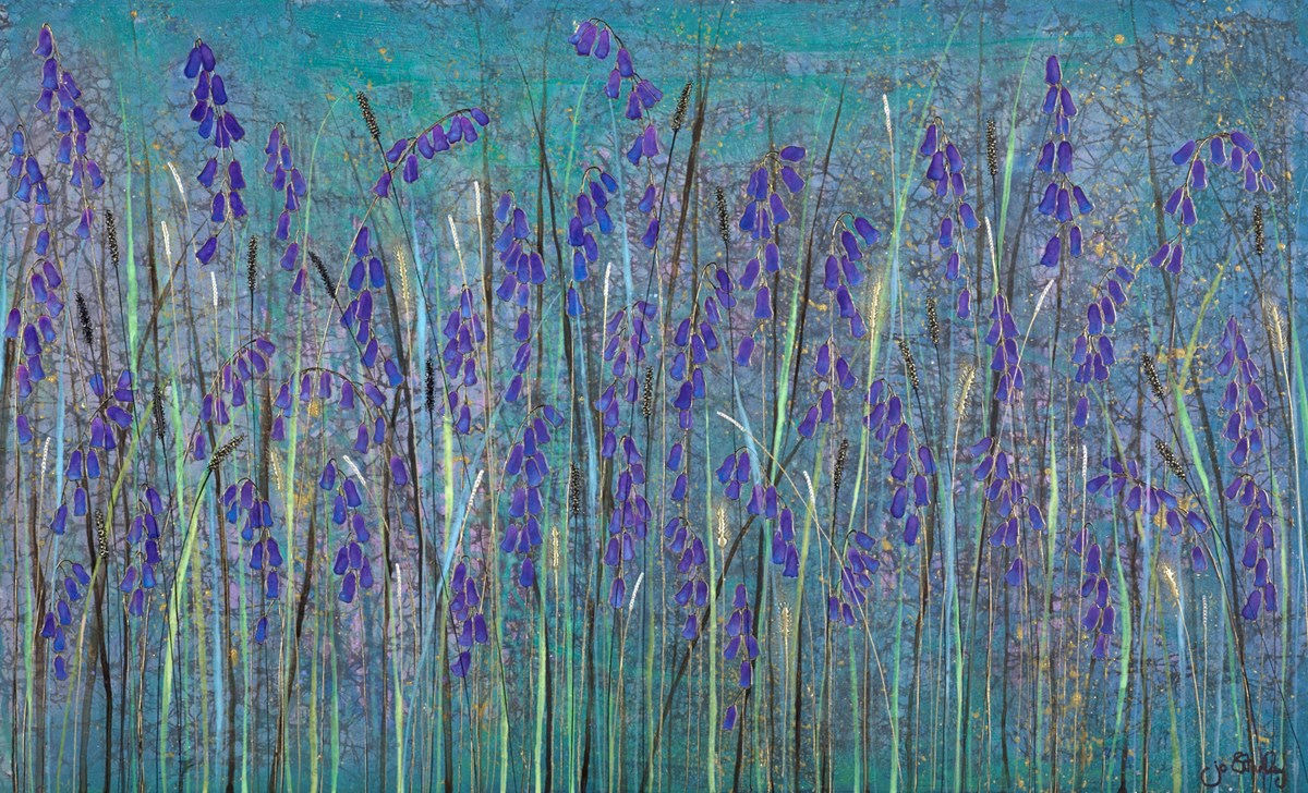 Shine Bright like a Bluebell by jo starkey -  sized 39x24 inches. Available from Whitewall Galleries
